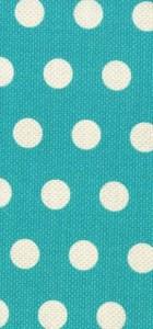 Rouleau tissu cool dots bleu Michael Miller 100% coton