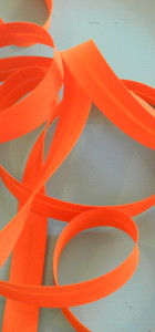 Biais uni orange clair frou frou polycoton