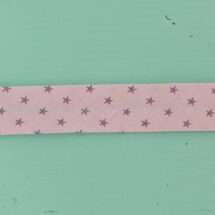 biais étoiles rose et violet frou frou