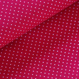 tissu rose groseille à pois blanc soft cactus