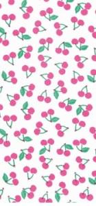 tissu cerises rose fluo 100% coton rico design