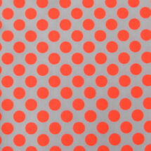 tissu pois orange fluo rico design