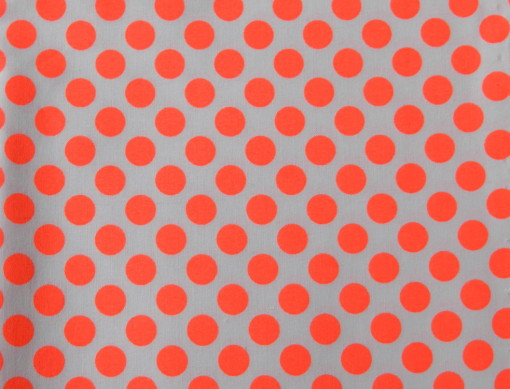 tissu pois orange fluo rico design