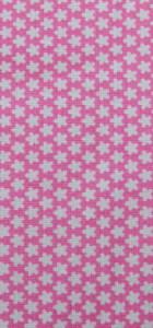 tissu rose fleurs blanches rico design