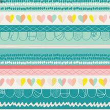 tissu clueless hearts innocence art galery fabrics 100% coton