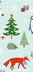tissu impressions d'hiver rico design 100% coton