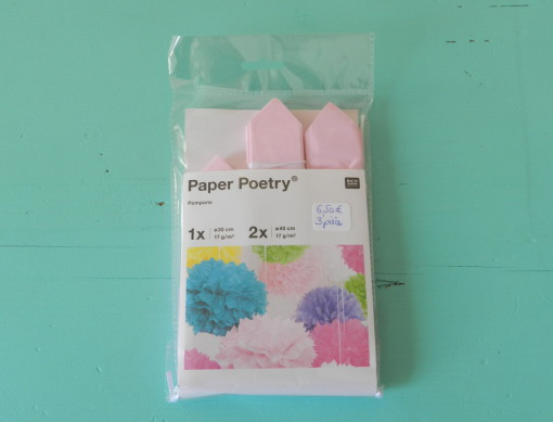 lot de 3 pompons papier de soie Rico design rose