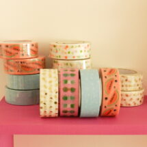 lot de 5 masking tape tropical spring Rico design
