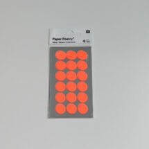 stickers pois orange fluo Rico design 15 mm