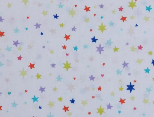 tissu étoiles multicolores Rico design gros plan