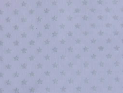 tissu-stars blanc et argent Rico design 100% coton