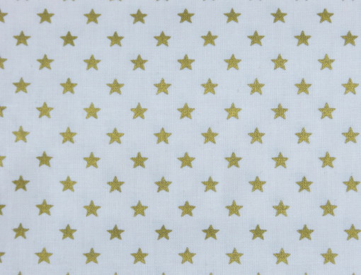 tissu stars blanc: et or 100% coton rico design