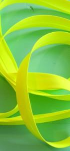 Biais uni jaune fluo