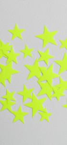 étoiles flex jaune fluo