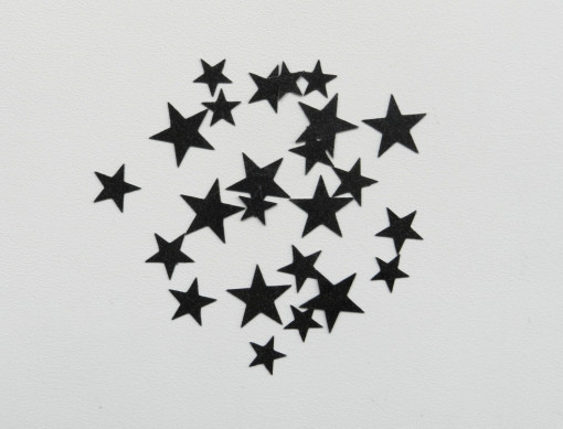 étoiles flex noir glitter