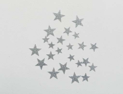 étoiles flex pailletté argent