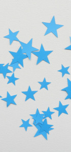 étoiles flex thermocollant bleu