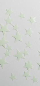 étoiles flex thermocollant phosphorecente