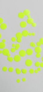 Pois flex thermocollant jaune fluo