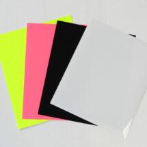 Flex thermocollant noir-blanc-rose et jaune fluo