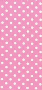 tissu dumb dot rose pois blanc 100% coton