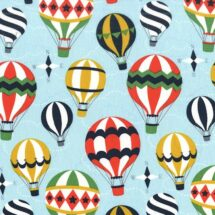 Tissu up and away bleu Michael Miller 100% coton