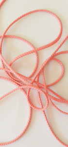 Cordon polyester 5 mm rose
