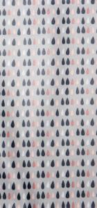 tissu enduit motif gouttes Rico design