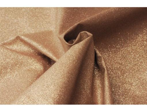 Tissu pailleté extra souple or