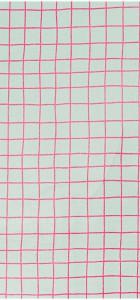 toile carreaux rose fluo rico design