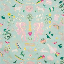 toile enduite tigres vert menthe rico design