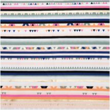 tissu multi raie hot foil rico design