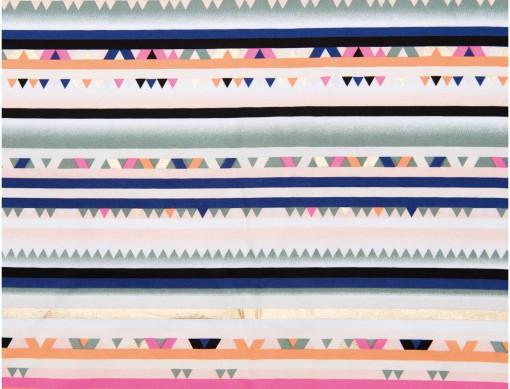 tissu multi raie hot foil rico design