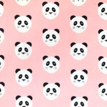 tissu jersey panda maotey rose