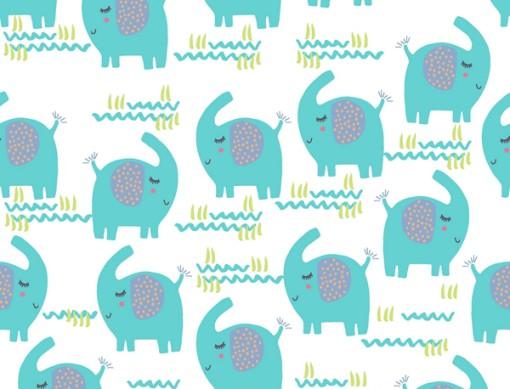 tissu flanelle playful cuties adlico