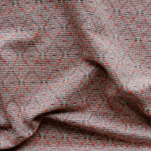 Tissu jacquard motif lurex argent