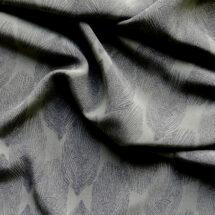 Tissu viscose kaki imprimé feuille